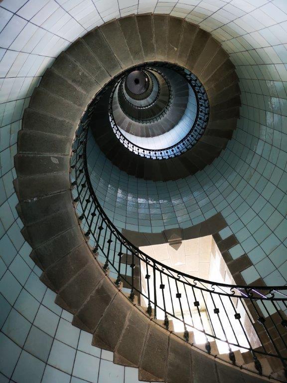 Une spirale en opaline