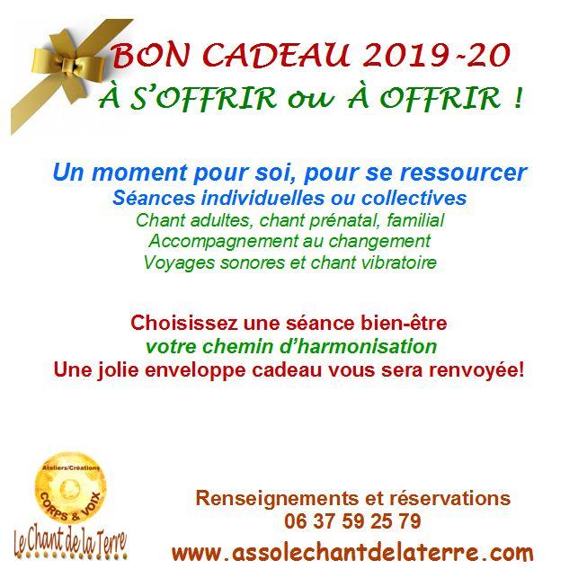 Bon cadeau 2019 20 agenda