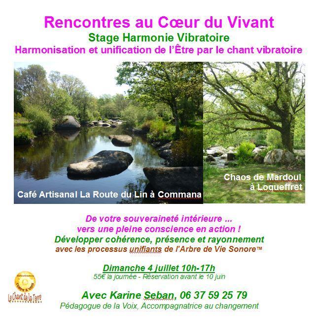 Stage harmonie vibratoire juillet 1